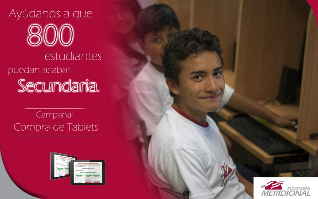 Campaña COMPRA DE TABLETS A ESTUDIANTES, COVID 19